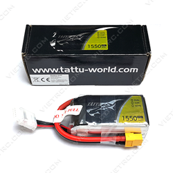 Picture of Tattu 4S 14.8V 1550mAh 45C XT60 Plug