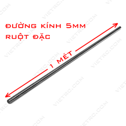 Picture of Ống carbon 5mm (ruột đặc)
