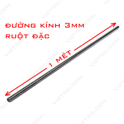 Picture of Ống carbon 3mm (ruột đặc)