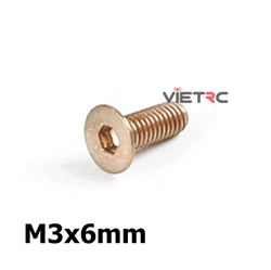 Picture of Titanium Inner Hexagon Countersunk Screw M3 6mm