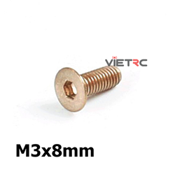 Picture of Titanium Inner Hexagon Countersunk Screw M3 8mm