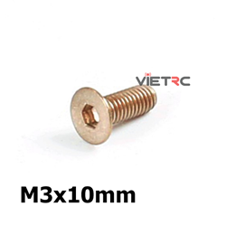 Picture of Titanium Inner Hexagon Countersunk Screw M3 10mm