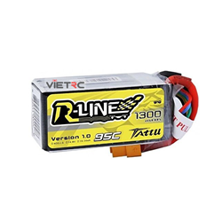 Picture of Tattu R-Line 4S 14.8V 1300mAh 95C XT60 Plug