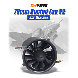 Picture of FMS ducted fan 70mm 12 Blades 2845-KV2750 (V2) for 4S