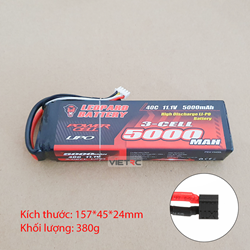 Picture of Leopard 3S 11.1V 5000mAh 40C T Plug